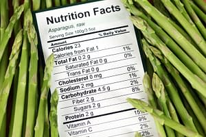 Asparagus food label